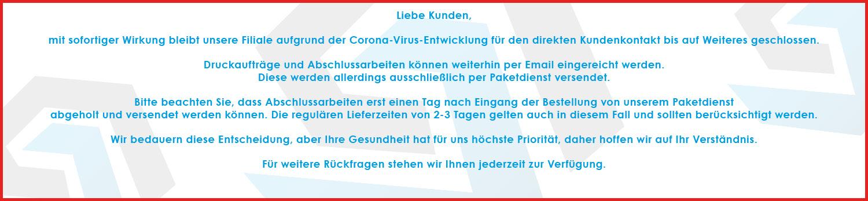 Kundeninformation Corona-Virus